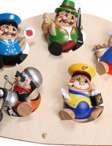 Display Bogendisplay für 7 Kugelräucherfiguren