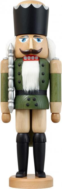 Nussknacker König Esche lasiert grün