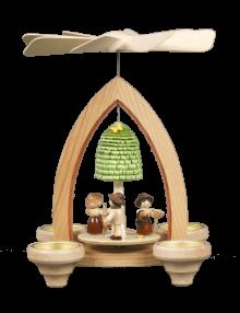 Pyramid for tealights Spring garden