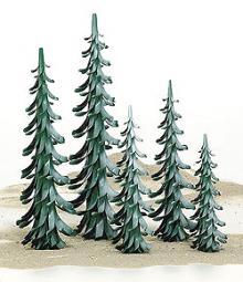 Spiral tree green-white