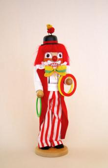 Nussknacker Clown mit Ringen