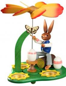 Easter pyramid rabbit painter, large