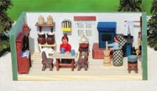 Miniature parlor ore mountains house
