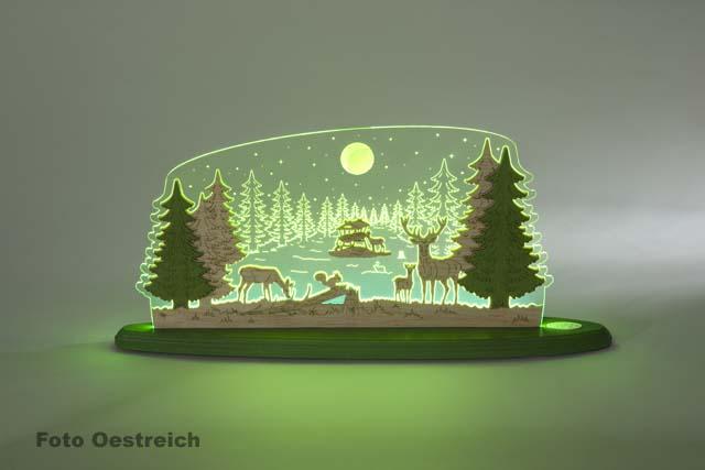 "LED Motivleuchte ""Waldidylle"""