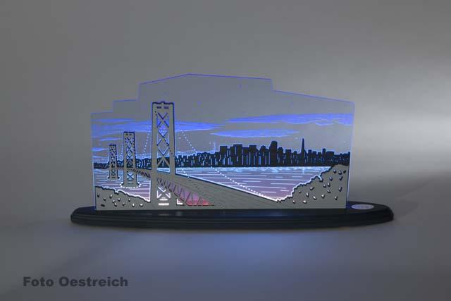 """LED Motivleuchte """"Blick über San Francisco"""""""