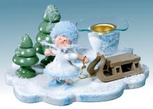 candlestick Snow Maiden with sleigh