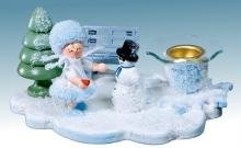 candlestick Snow Maiden with snowman