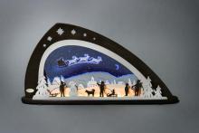 LED Schwibbogen, Santa Claus