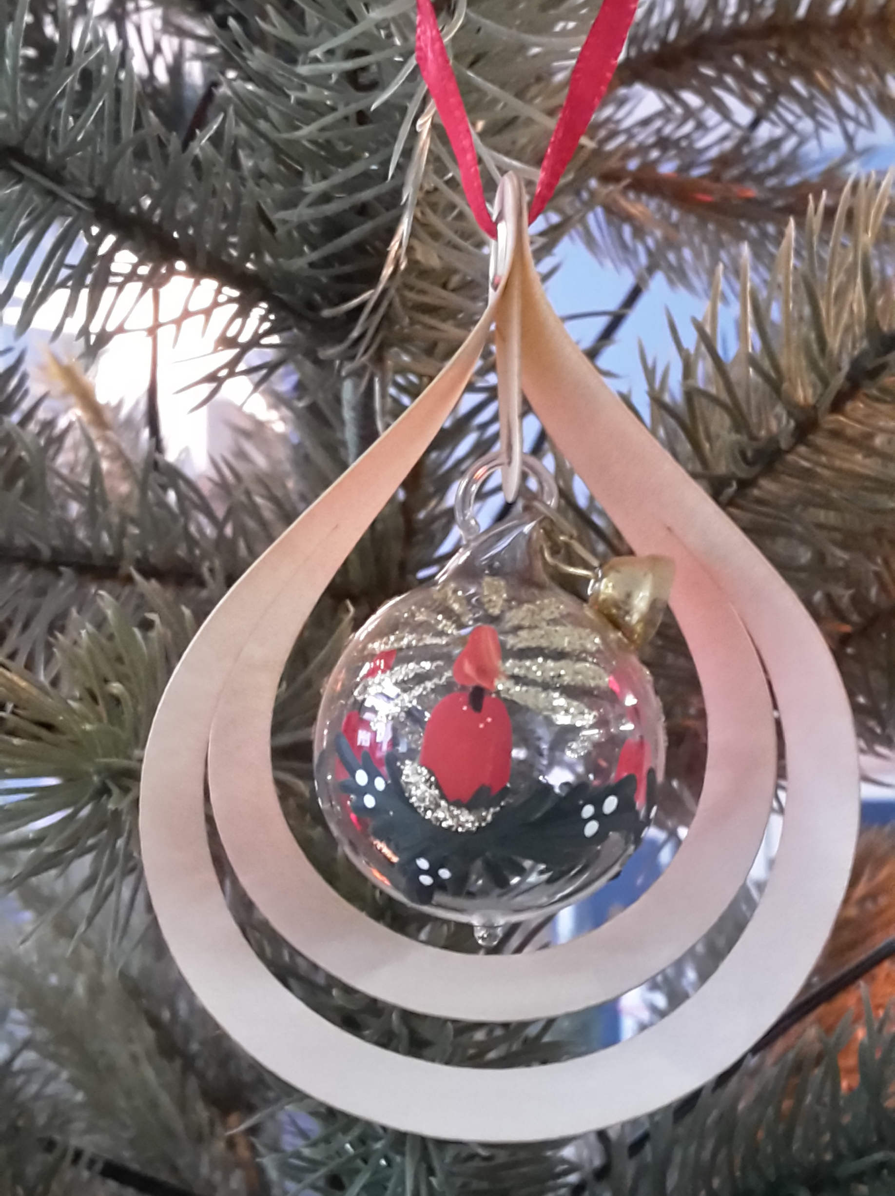 Tree decoration glassball Candle, 3D
