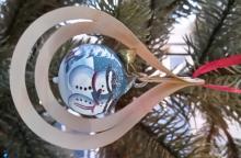 Tree decoration glassball Snowman, 3D