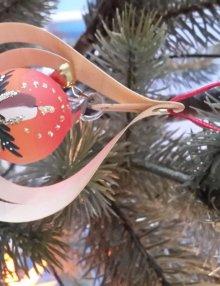 Tree decoration glassball Red Symphonie, 3D