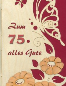 Greeting card butterfly with individuelly number