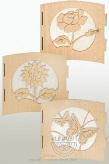 Motif lamp flowers