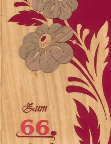 greeting card flowers with individuelly number
