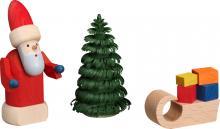 Figur Weihnachtsmann mit Schlitten **Neu 2016**