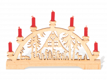 Mini-Arches Forest house with red candles