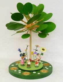 "Pyramid ""Spring Awakening with Flower Children"" for tealights"