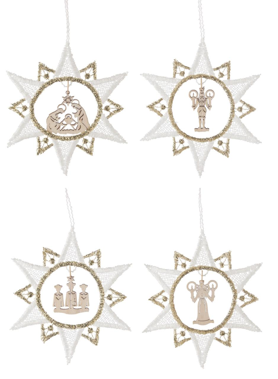 Weihnachtsmotive Png.Tree Hanging Christmas Motifs In Lace Of Plauen