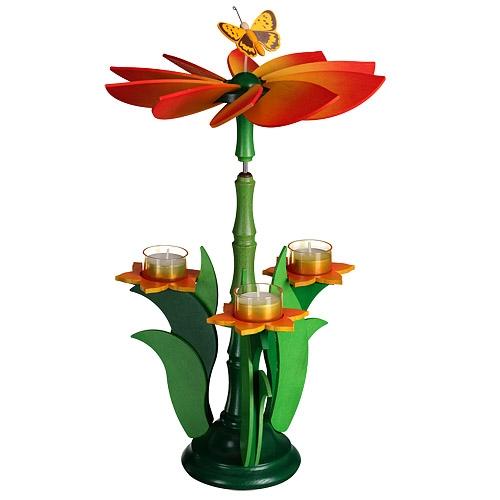Teelichtpyramide Blüte
