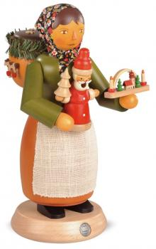 Incense Smoker Wooden toy saleswoman