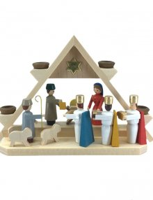 mini-arc nativity scene