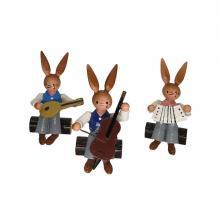 Easter bunny trio