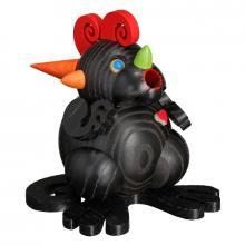 Kugelräucherfigur Räucherdrache Schwarzes Drachenherz