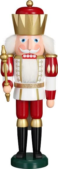 Nutcracker King white-red, 40 cm