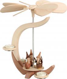 Tealight pyramid with Gnomes