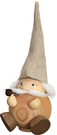 Ballsmoked figure Forest gnome natural, 19 cm