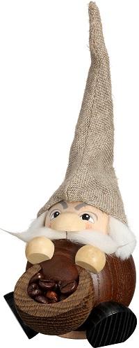 Ballsmoked figure Fragrant gnome Coffee, 19 cm