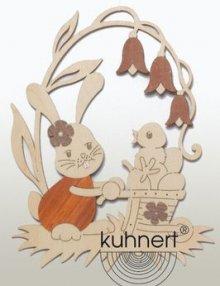 Window picture Stubsi Bunny with wheelbarrow