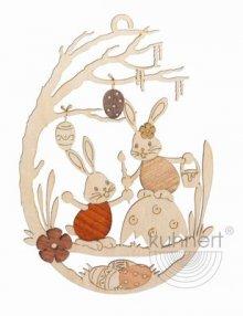 Window picture Stubsi Bunny on eggshell