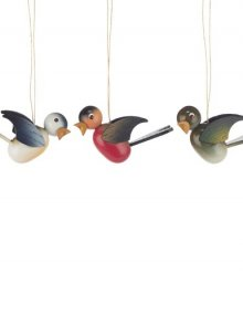Hanging birds colored (6 pieces)