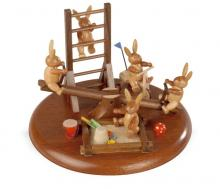 Motiv platform rabbit playground with movable rocker for electr. Music box