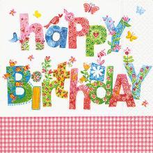 Napkins Birthday greetings