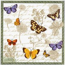 Napkins vintage butterflies