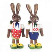 Easter bunny couple with basket