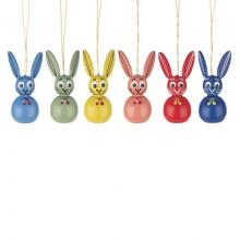 Hanging easter bunnies (6 pieces)