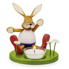 Candle holder Sniff bunny Hans with light