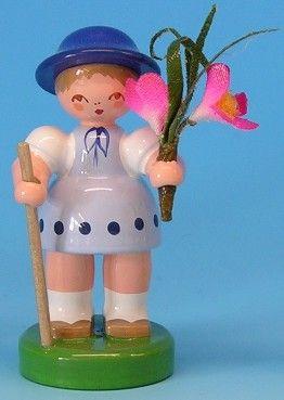 Flower girl light blue / blue with flower