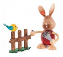 Easter Bunny Stupsi with bird