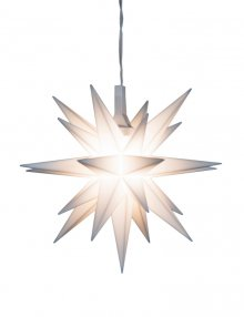Moravian miniature star plastic 8cm, white