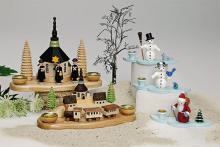 Seiffener Dorf mit Bahn