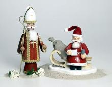 Smoker Santa on sleigh