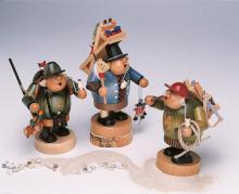Spielzeughändler mit Kiepe