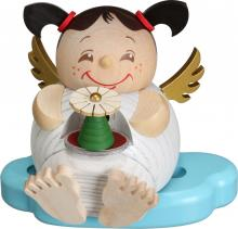 Ball smoked figure angel with pyramid