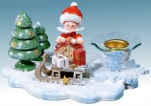 candlestick Snow Maiden Santa Claus with sleigh