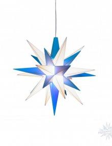 Moravian Star Plastic 68cm blue / white