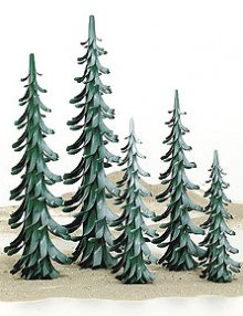 Spiralbaum grün-weiß / 50 cm
